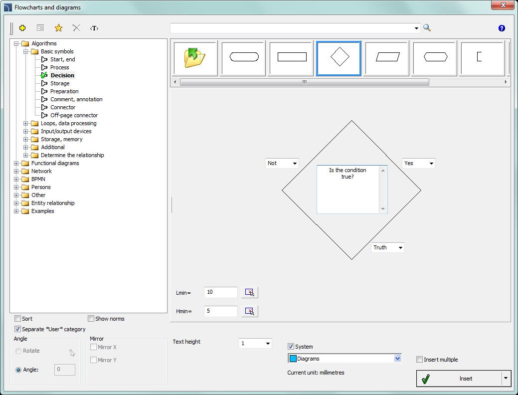 Flowcharts, block diagramsCADprofi